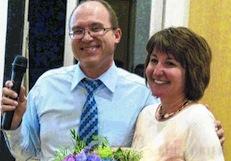 Bisheriger Vorsitzender U. Warth mit Ehefrau