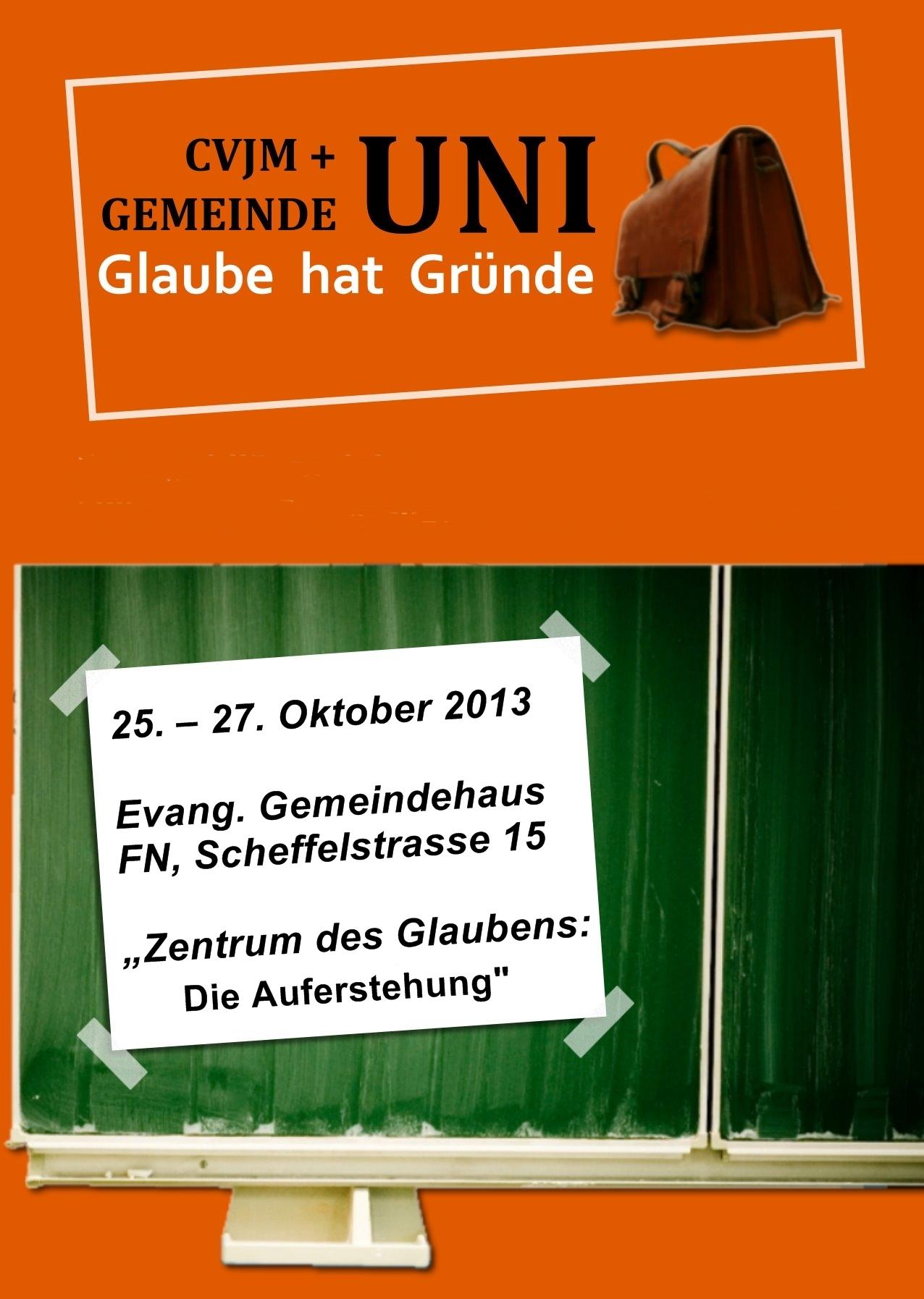 Bild CVJM- und Gemeinde-Uni 2013